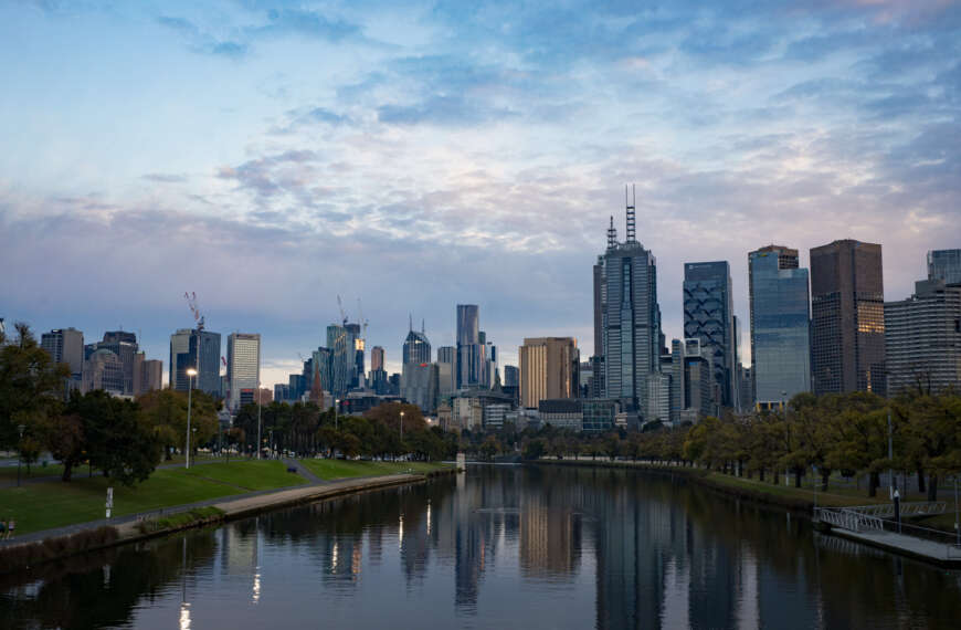 Melbourne in the dawn's early light