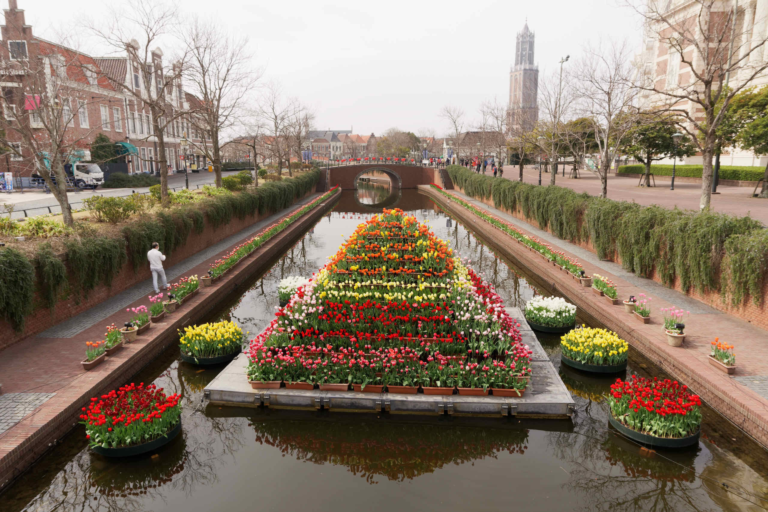 flowers in canal